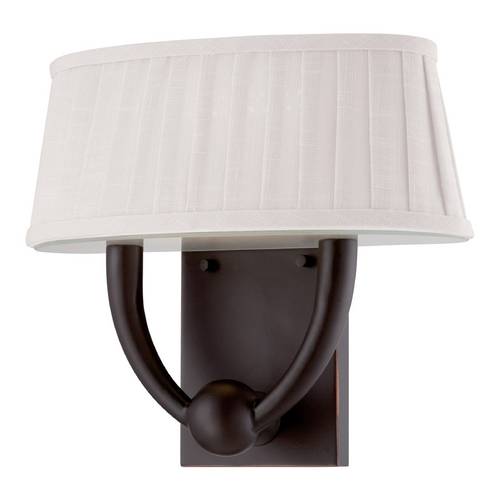 Nuvo Lighting LED Sconce Wall Light with White Shade in Copper Espresso Finish 62/197