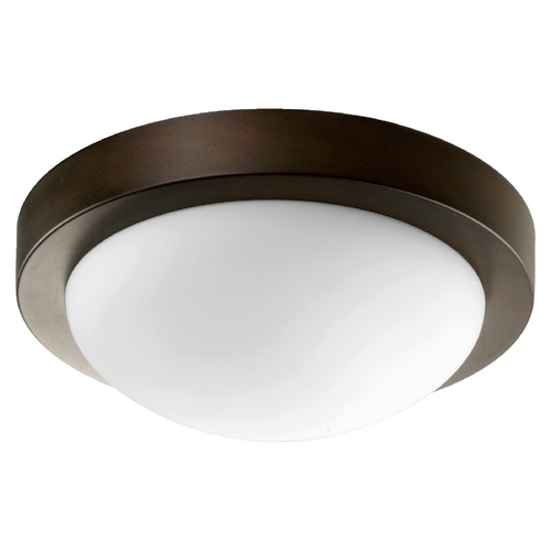 Quorum Lighting Quorum Lighting Oiled Bronze Flushmount Light 3505-11886