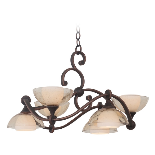 Kalco Lighting Kalco Lighting Arroyo Antique Copper Chandelier 6496AC
