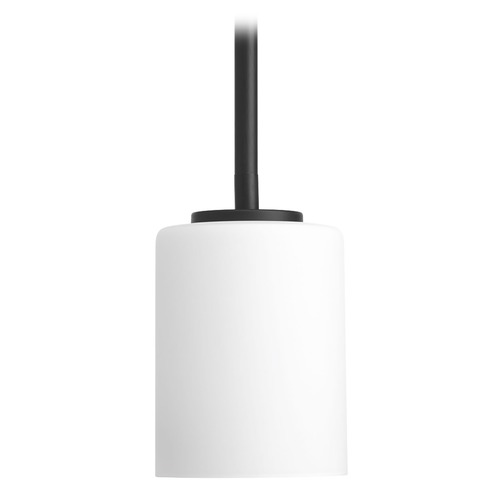 Progress Lighting Progress Lighting Replay Black Mini-Pendant Light with Cylindrical Shade P5170-31