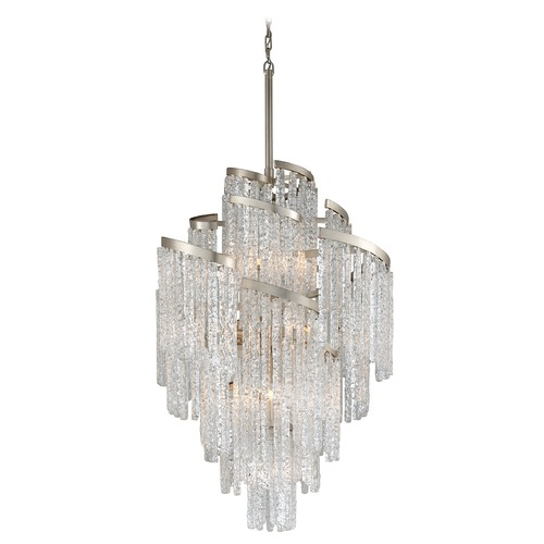 Corbett Lighting Corbett Lighting Mont Blanc Modern Silver Leaf Chandelier 243-413