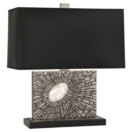 Robert Abbey Lighting Robert Abbey Lighting Goliath Table Lamp with Rectangular Black Opaque Parchment S416B