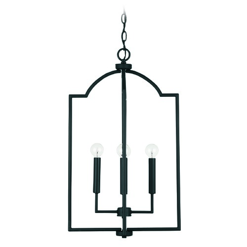 HomePlace by Capital Lighting HomePlace Carter Matte Black 4-Light Pendant Light with 539341MB