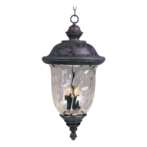 Maxim Lighting Outdoor Hanging Light with Clear Glass in Oriental Bronze Finish 3427WGOB
