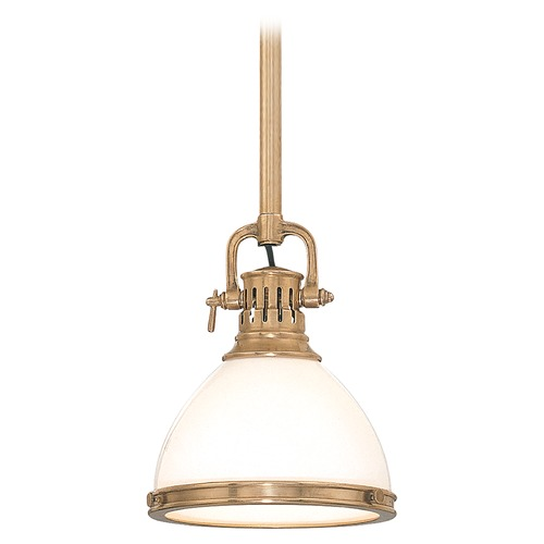 Hudson Valley Lighting Mini-Pendant Light with White Glass 2622-AGB