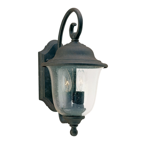 Sea Gull Lighting Outdoor Wall Light with Clear Glass in Oxidized Bronze Finish 8459-46