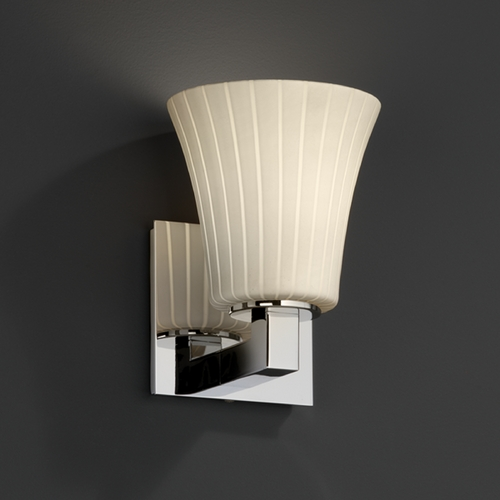 Justice Design Group Justice Design Group Fusion Collection Sconce FSN-8921-20-RBON-CROM
