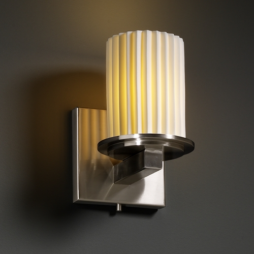 Justice Design Group Justice Design Group Limoges Collection Sconce POR-8771-10-PLET-NCKL