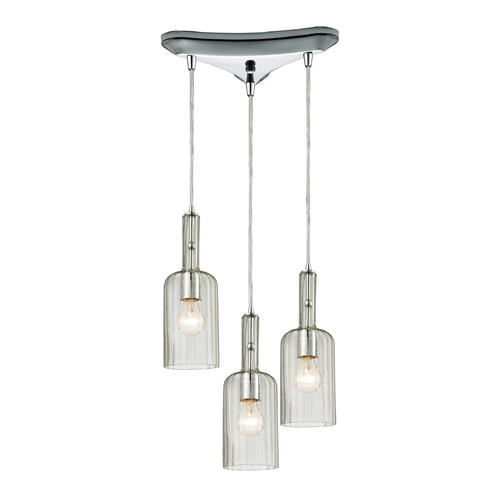 Elk Lighting Multi-Light Pendant Light with Clear Glass and 3-Lights 60067-3
