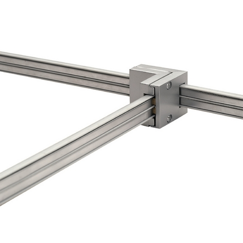WAC Lighting Wac Lighting Brushed Nickel Rail, Cable, Track Accessory LM2-T-BN