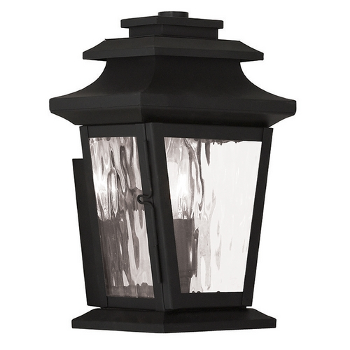 Livex Lighting Livex Lighting Hathaway Black Outdoor Wall Light 20255-04