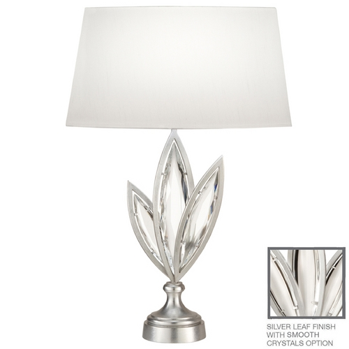 Fine Art Lamps Fine Art Lamps Marquise Platinized Silver Leaf Table Lamp with Oval Shade 849810-11ST