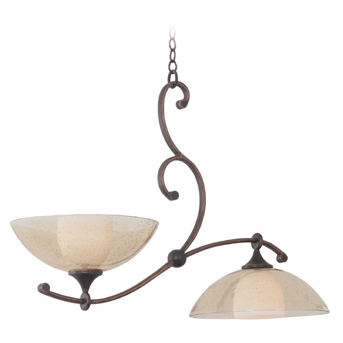 Kalco Lighting Kalco Lighting Arroyo Antique Copper Island Light 6497AC