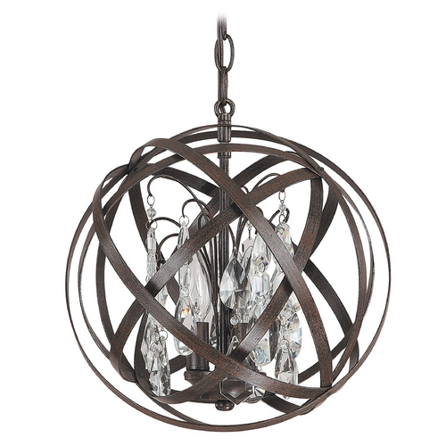 Capital Lighting Capital Lighting Russet Pendant Light 4233RS-CR