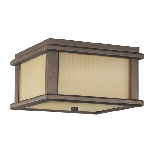 Feiss Lighting Feiss Lighting Mission Lodge Corinthian Bronze LED Close To Ceiling Light OL3413CB-LED