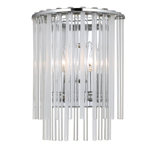 Crystorama Lighting Crystorama Lighting Bleecker Polished Chrome Sconce 392-CH