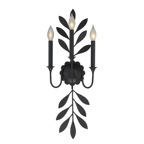 Savoy House Savoy House Lighting Trumpet Aged Iron Sconce 9-1174-3-55