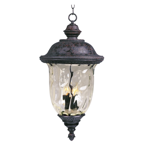 Maxim Lighting Outdoor Hanging Light with Clear Glass in Oriental Bronze Finish 3428WGOB