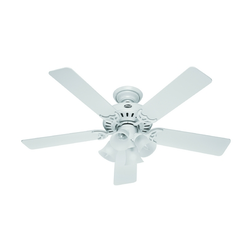 Hunter Fan Company Hunter Fan Company Studio Series White Ceiling Fan with Light 53062