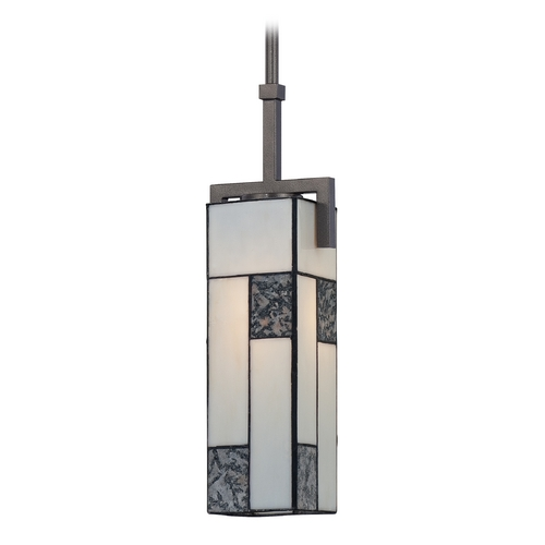 Designers Fountain Lighting Mini-Pendant Light with Art Glass 84130-CHA