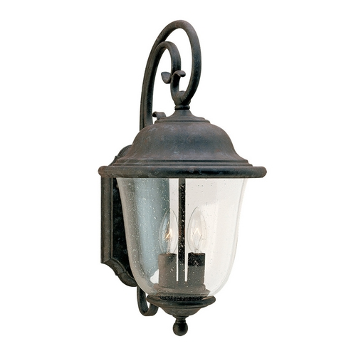 Sea Gull Lighting Outdoor Wall Light with Clear Glass in Oxidized Bronze Finish 8460-46