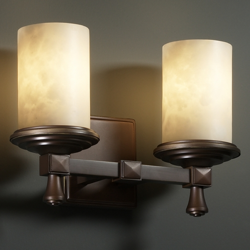 Justice Design Group Justice Design Group Clouds Collection Bathroom Light CLD-8532-10-DBRZ
