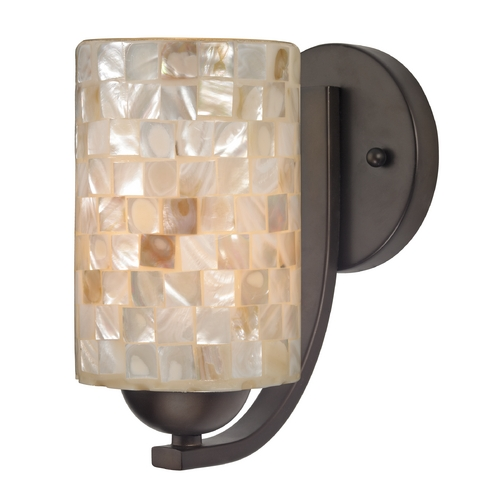 Design Classics Lighting Sconce with Mosaic Glass in Bronze Finish 585-220 GL1026C