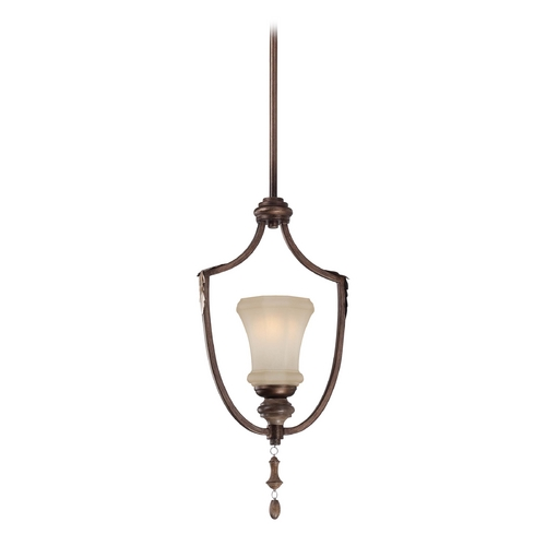 Minka Lavery Mini-Pendant Light with Beige / Cream Glass 4121-563