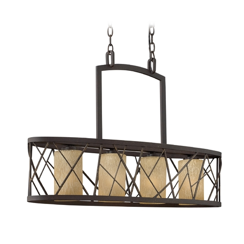 Frederick Ramond Island Light with Amber Glass in Oil Rubbed Bronze Finish FR41614ORB