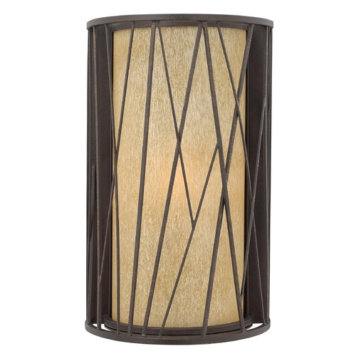 Hinkley Lighting Outdoor Wall Light with Amber Glass in Regency Bronze Finish 1155RB-GU24