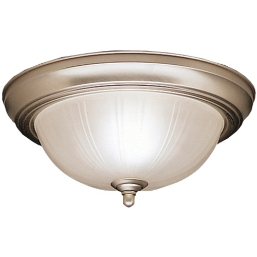 Kichler Lighting Kichler Flushmount Light with White Glass in Brushed Nickel Finish 8653NI