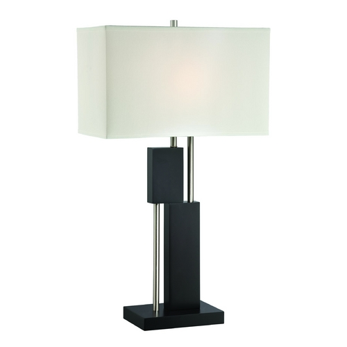 Lite Source Lighting Lite Source Lighting Taffy Dark Walnut Table Lamp with Rectangle Shade LS-22430