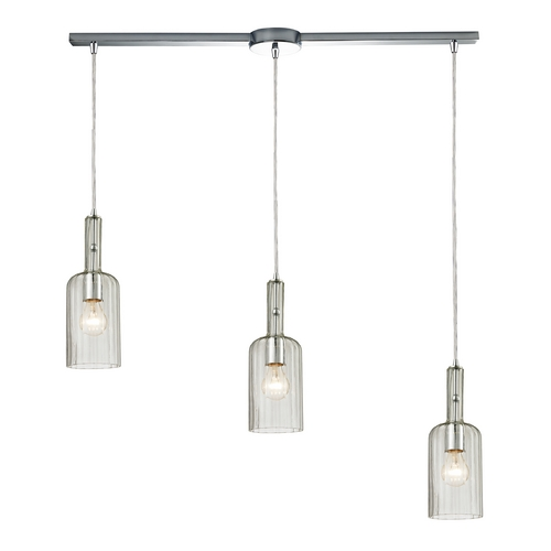 Elk Lighting Multi-Light Pendant Light with Clear Glass and 3-Lights 60067-3L
