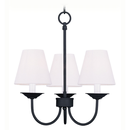 Livex Lighting Livex Lighting Mendham Black Mini-Chandelier 5273-04