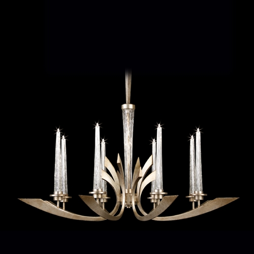 Fine Art Lamps Fine Art Lamps Crescents Silver Leaf Crystal Chandelier 812440-2ST