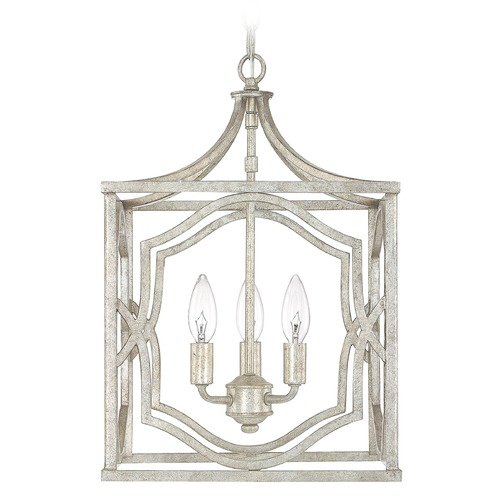 Capital Lighting Capital Lighting Blakely Antique Silver Pendant Light 9481AS