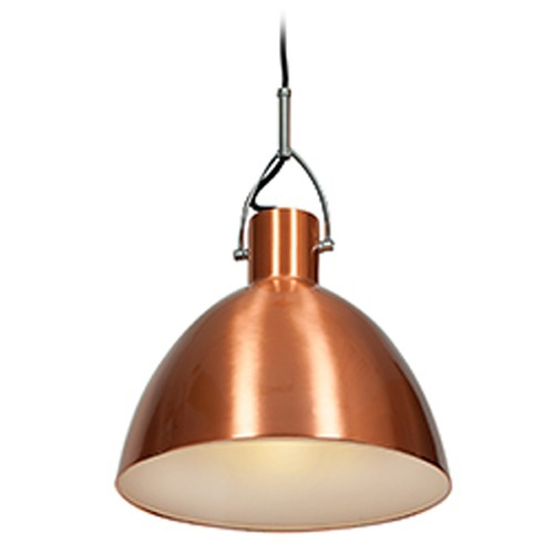 Access Lighting Access Lighting Essence Brushed Copper Pendant Light with Bowl / Dome Shade 28092-BCP