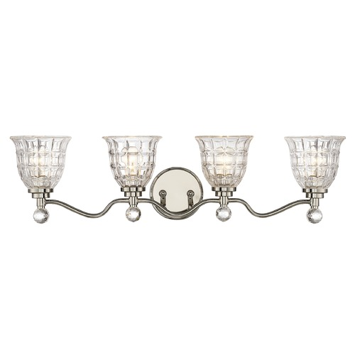 Savoy House Savoy House Lighting Birone Polished Nickel Bathroom Light 8-880-4-109