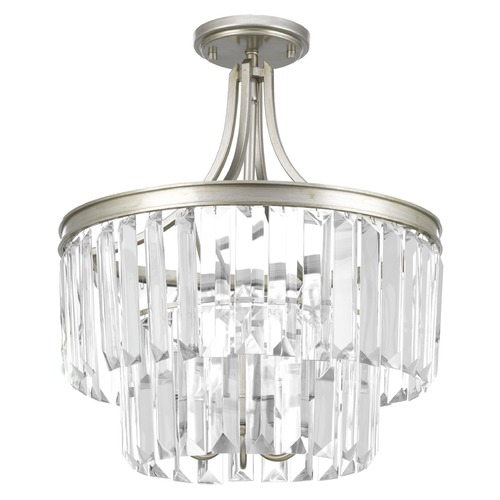 Progress Lighting Progress Lighting Glimmer Silver Ridge Semi-Flushmount Light P2326-134