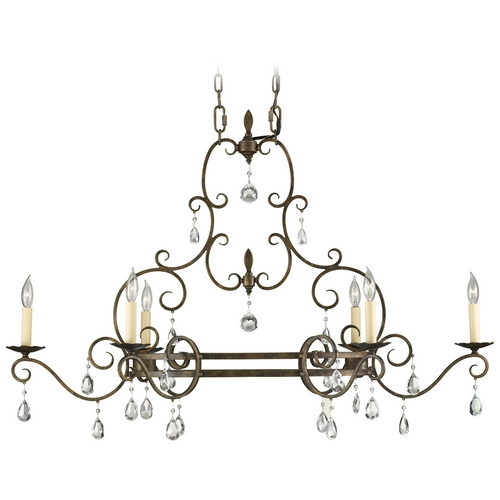 Feiss Lighting Crystal Chandelier in Mocha Bronze Finish F2304/6MBZ