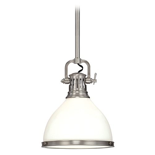 Hudson Valley Lighting Mini-Pendant Light with White Glass 2622-PN