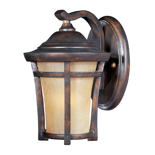 Maxim Lighting Outdoor Wall Light with Gold Glass in Copper Oxide Finish 85162GFCO