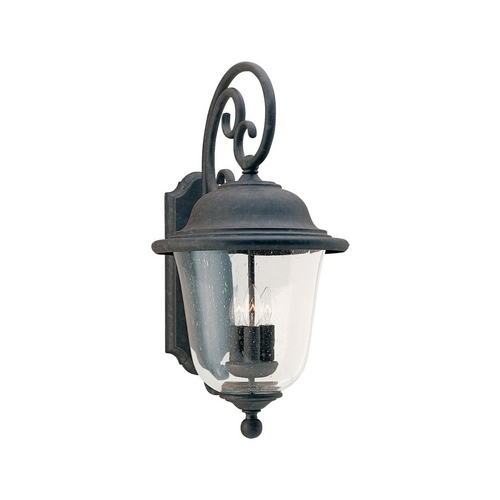 Sea Gull Lighting Outdoor Wall Light with Clear Glass in Oxidized Bronze Finish 8461-46