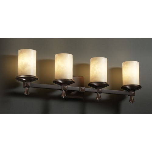 Justice Design Group Justice Design Group Clouds Collection Bathroom Light CLD-8534-10-DBRZ