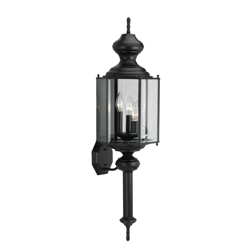 Progress Lighting Progress Outdoor Wall Light with Clear Glass in Black Finish P5731-31