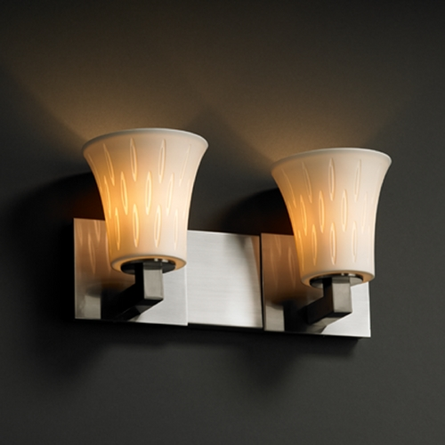 Justice Design Group Justice Design Group Limoges Collection Bathroom Light POR-8922-20-OVAL-NCKL