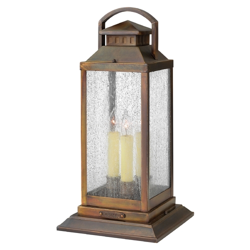 Hinkley Lighting Post Light with Clear Glass in Sienna Finish 1187SN
