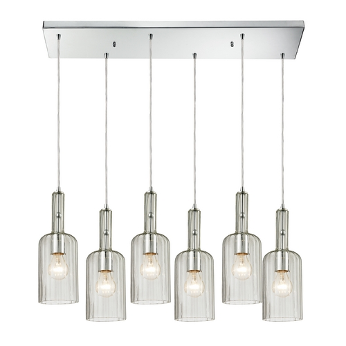 Elk Lighting Multi-Light Pendant Light with Clear Glass and 6-Lights 60067-6RC
