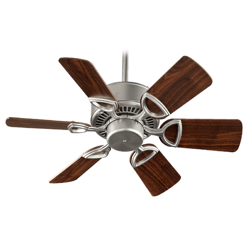 Quorum Lighting Quorum Lighting Estate Satin Nickel Ceiling Fan Without Light 43306-65