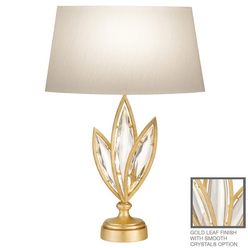 Fine Art Lamps Fine Art Lamps Marquise Florentine Brushed Gold Leaf Table Lamp with Oval Shade 849810-21ST